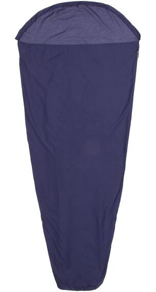 Sea to Summit Silk/Cotton Travel Liner Mummy with Hood Navy Blue